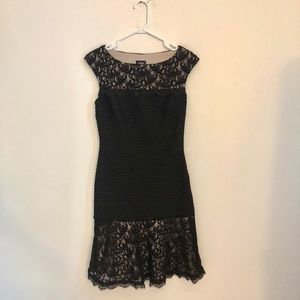 Jax Black Lace and Spandex Cocktail Party Dress